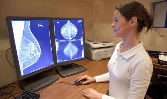 سونوگرافی سینه min سرطان پستان