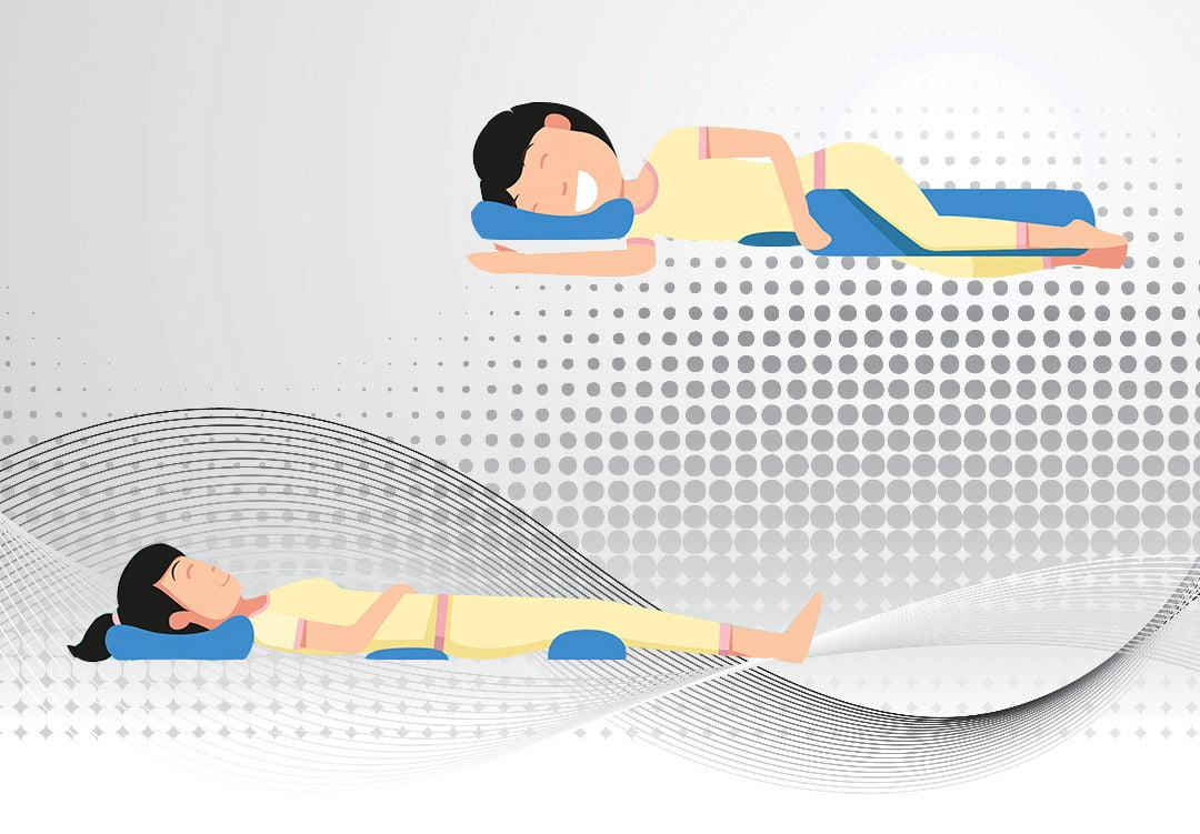 مهمترین نکته درباره روش خوابیدن پس از جراحی لیپوماتیک  این است که کاملا دراز نکشید و زانوها را خم کنید